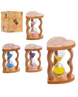 Деревянная игрушка «Песочные часы» 12 см, 5 минут, в ассортименте, в коробке 9,5х9,5х12,5 см
