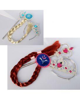 Аксессуары для девочек «Карнавальные» корона, волшебная палочка, в ассортименте, на планш. 17,5х35х2