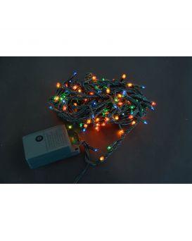 Электрогирлянда «Yes! Fun» 160 микроламп, многоцветная, 8 м., 8 режимов мигания, зеленый провод.