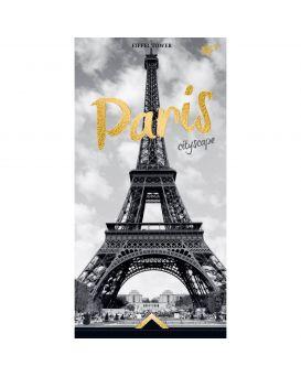 Блокнот 10х20 см, 64 л., в клетку, обложка ламинация + глиттер золотой, 7БЦ «Gorjous Paris» ТМ YES