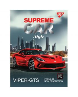 Блокнот А5 80 л., на спирали, обл. матовая ламин. + серебряная фольга + выб.УФлак «Supreme cars» YES
