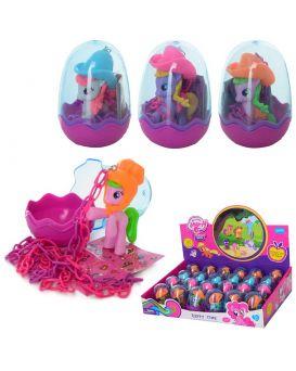 Герои мультфильма «My Little Pony» 6 см, на цепочке, в ассортименте, 24 шт. в дисплей боксе 36х24х8