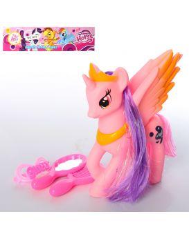 Герои мультфильма «My Little Pony» 20 см, расческа, зеркало, заколка, в пакете 17,5х25х6 см