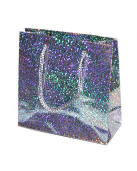 Пакет подарочный, голограмма 14,6 х 11,4 х 6,4 см, в ассортименте
