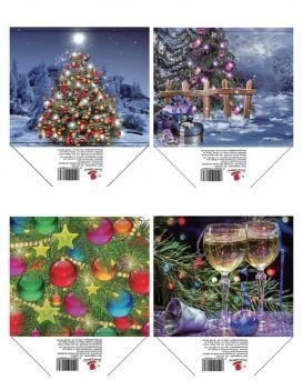 Пакет подарочный, бумажный 14,6 х 11,4 х 6,4 см, в ассортименте