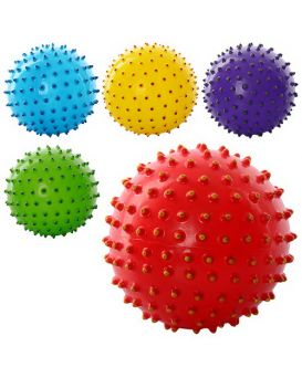 Мяч массажный, размер 5 дюймов, ПВХ, 45 гр., в ассортименте