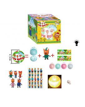 Герои мультфильма «Три Кота» в шаре, на бат., свет, в ассортименте, в коробке 10х10х10 см
