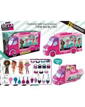 Игровой набор «Bela Dolls» фэшн кукла 17,5 см с аксессуарами, в ассортименте, в коробке 34х13х20 см
