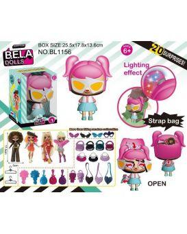 Игровой набор «Bela Dolls» кукла рюкзак 17,5 см, на бат., свет, аксессуары, в кор. 25,5х17,8х13,6 см
