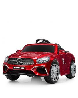 Машина на радиоуправ., 2,4G, 2 мотора 18W, аккум. 12V/7AH, колеса EVA, кожаное сидение, красная