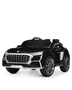 Машина на радиоуп., 2,4G, 4 мотора 25W, аккум.12V/7AH, колеса EVA, кожаное сиденье, MP3, USB, черная