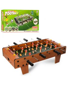 Футбол деревянный на штангах 60,5х30х20 см, мячи 2 шт., шкала ведения счета, в кор. 61х31х20 см