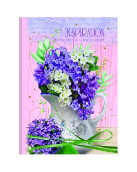 Тетрадь А4 176 листов, твердый переплет, в клетку, ламинированная обл. «Цветы» в ассортименте
