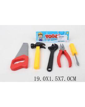 Набор инструментов молоток, пила, ключ, отвертка, в пакете 19х1,5х7 см