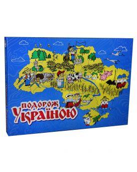 Игра настольная «Путешествие по Украине» укр., в коробке 42х30х4,5 см, ТМ Стратег