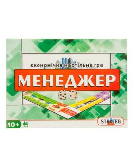 Игра большая настольная «Менеджер» укр., в коробке 38х29х4 см, ТМ Стратег