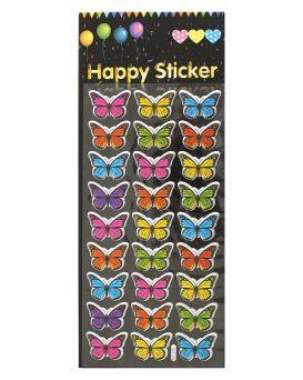 Наклейки детские «Бабочки» 30 х 13,5 см, ПВХ, арт. АСС