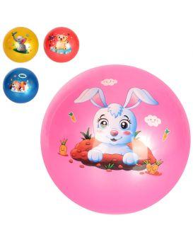 Мяч детский, 9 дюймов, с рисунком, ПВХ, 67 - 73 гр., в ассортименте, в пакете