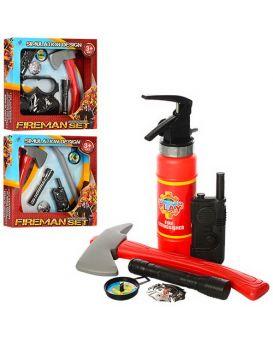 Набор «Пожарный» топор, фонарь, рация, огнетушитель, маска, лом, в ассортименте, в коробке 32х32х6см