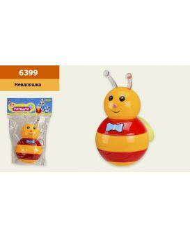 Неваляшка «Пчелка» 10х15 см, на батарейке, музыка, свет, в ассортименте, в пакете 17х26 см