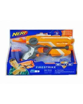 Бластер «Nerf» стреляет поролоновыми снарядами, в коробке 24х20х4,5 см