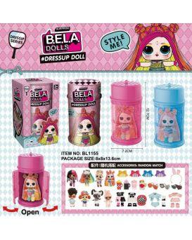 Игровой набор «Bela Dolls» в капсуле 13,5 см, разноцветные волосы, аксессуары, в кор. 8х8х13,5 см