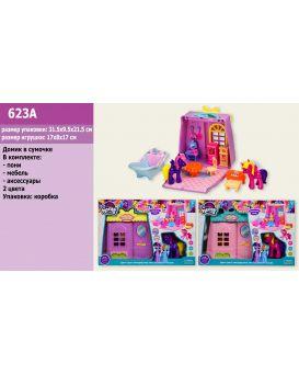 Домик «My little Рony» пони, мебель, в ассортименте, в коробке 31,5х9,5х21,5 см