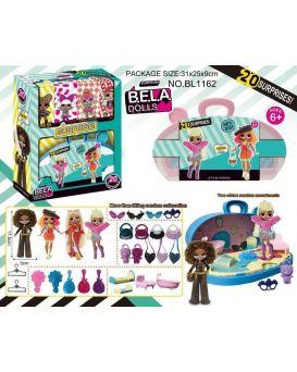 Игровой набор «Bela Dolls» кукла 17,5 см, чемодан с мебелью, аксессуары, в кор. 25,5х9х31,5 см