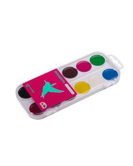 Краски акварельные 12 цветов, без кисти, пластик «Увлечение» Гамма-Н