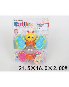 Погремушка «Бабочка - трещотка» внутри мелкие шарики, на планшетке 21,5х16,2 см