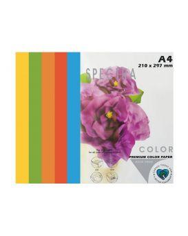 Бумага цветная А4 100 листов, 160 гр/м2, интенсив микс, 5х20 «Rainbow Deep» SPECTRA COLOR