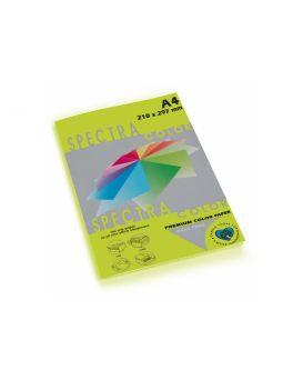 Бумага цветная А4 100 листов, 80 гр/м2, неон зеленая «Cyber HP Green 321» SPECTRА COLOR