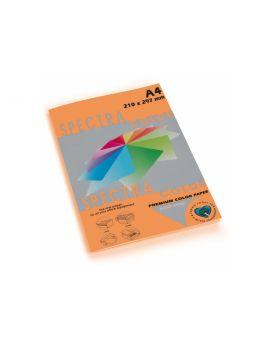 Бумага цветная А4 100 листов, 80 гр/м2, неон оранжевая «Cyber HP Orange 371» SPECTRА COLOR