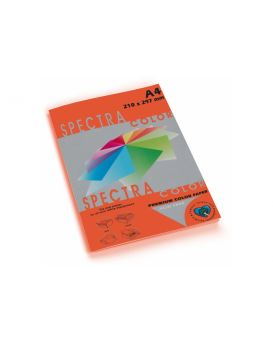 Бумага цветная А4 100 листов, 160 гр/м2, интенсив красная «Red 250» SPECTRА COLOR