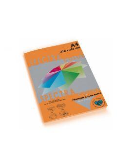 Бумага цветная А4 100 листов, 160 гр/м2, интенсив оранжевая «Saffron 240» SPECTRА COLOR