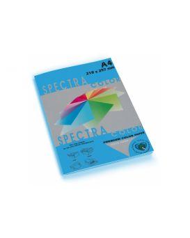 Бумага цветная А4 100 листов, 160 гр/м2, интенсив синяя «Turquoise 220» SPECTRА COLOR
