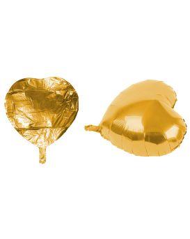 Шарики воздушные фольгированные 46 см «Золотое Сердце» без палочки