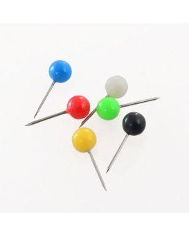 Кнопки «Шарик» цветные 6 мм, 50 шт., D1734