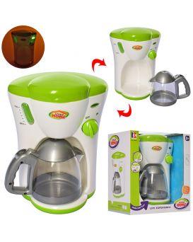 Кофеварка 21 см, на батарейке, светится, льется вода, чайник, в коробке 20,5х24х14,5 см