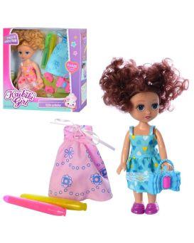 Кукла 15 см, с нарядом, платья, маркер 2 шт., сумочка, обувь, в ассортименте, в коробке