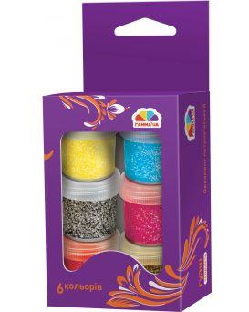 Краски гуашевые 6 цветов по 10 мл, с блестками «Творчество» Гамма - Н