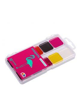 Краски акварельные 10 цветов, без кисти, пластик «Увлечение» Гамма-Н