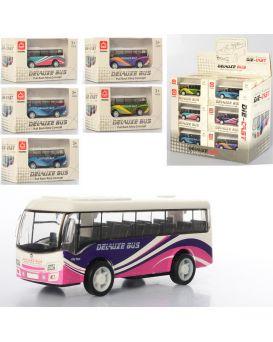 Автомобиль металлический «Автобус» инерционный, 9см, в ассортименте, 18 шт. в дисплей боксе 25х21х14