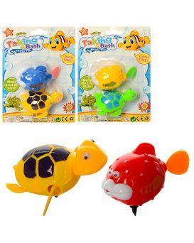 Игрушка водоплавающая «Животные» 8 см, заводная, в ассортименте, 2 шт. на планшетке 14х19х4 см
