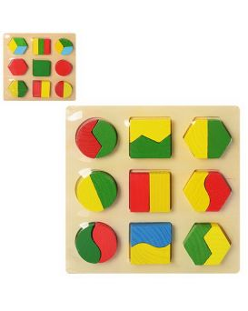 Деревянная игрушка «Геометрика» в ассортименте, в пакете 18х18х2 см