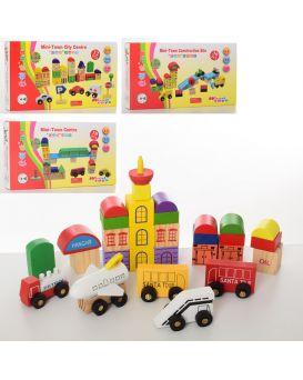 Деревянная игрушка «Городок» транспорт, в ассортименте, в коробке 28х16х3,5 см