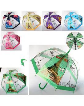 Зонтик детский длина 83 см, трость 66 см, диаметр 79 см, спица 58 см, в ассортименте