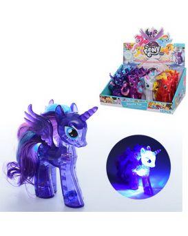Герои мультфильма «My Little Pony» 10 см, на бат., свет, в ассортименте, 12 шт. в дисплей боксе