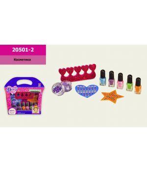 Набор детской косметики «Маникюр» лаки, блестки, наклейки, аксессуары, в коробке 20х4,5х19 см