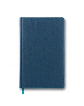 Ежедневник недатированный 144 л., 128 х 203 мм «Cambric» джинсовый, закругленные углы